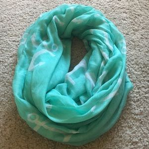 Accessories - Mint Anchor Infinity Scarf